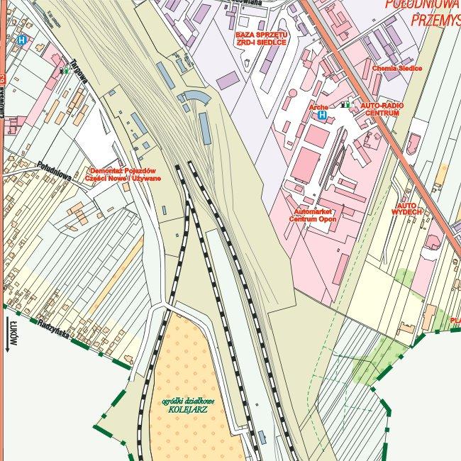 E Mapa Plan Miasta Siedlce